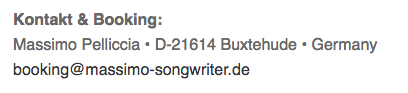 kontakt and booking Massimo Singer Songwriter Musiker Hamburg